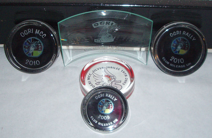 Awards from the Ogri Rally (Ogri MCC)